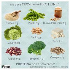 Ogni regime alimentare dovrà contenere metà proteine di origine animale e metà di origine vegetale!
