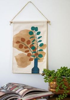 Silver Dollar Mini Wall Hanging – Home Dweller Fabric Wall Decor, Wall Decor Design, Mini Canvas, Jute Twine, Silver Dollar, Wall Hangings, Cotton Canvas, Decorating Ideas, Colours