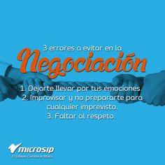 #TipsMicrosip 3 errores a evitar en la negociación
