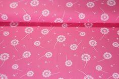 Jersey gemustert - Pusteblume Rosa Weiss