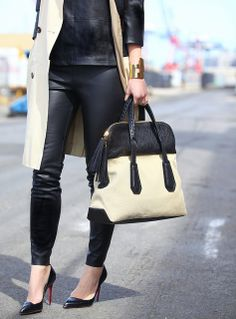 Our Girl About Town Canvas Satchel as seen on blogger Brooklyn Blonde #offdutystyle