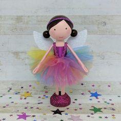 Peg doll, Clothespin doll, Rainbow Fairy | Flossy Bobbins Makery
