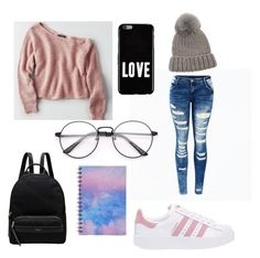 """Lee Soo 2nd Day In School ❤"" by min-lena-army ❤ liked on Polyvore featuring American Eagle Outfitters, adidas Originals, Radley, Givenchy, Forever 21 and Eugenia Kim"