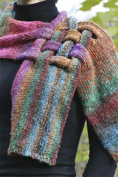 this is so cool  knitted scarves, idea, pattern, green, crochet, knit scarves, scarf, yarn, blues