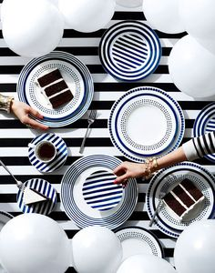 art direction | black + white tabletop still life photography by Kate Mathis for bloomingdale's: