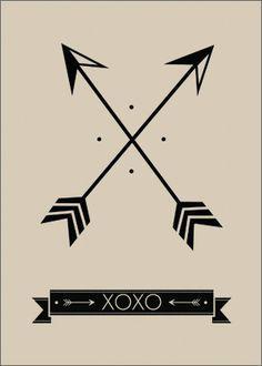 crossing arrow tattoo - Google Search