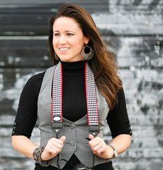 Cute vest. Cuter camera strap. #modstraps
