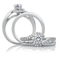 A Jaffe 18 Karat Classic Engagement Ring ME1557 / 77