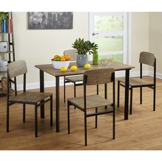 Simple Living 5-piece Piazza Rectangular Dining Set