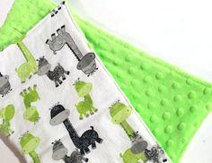 Minky Baby Blanket Boy Giraffe Nursery Boy Baby Blanket