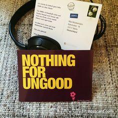 """Denglisch - """"Nichts für ungut"""" -  #mypostcard #denglisch #grußkarte"""