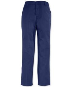 French Toast Boys' Uniform Slim-Fit Double Knee Flat-Front Pants