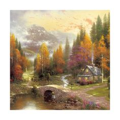 European and American scenery Thomas cattle decoration painting bulk villa hang painting hotel oil painting 14