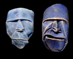 Ugly old faces made from Toliet Paper rolls by Junior Jacque Faquet