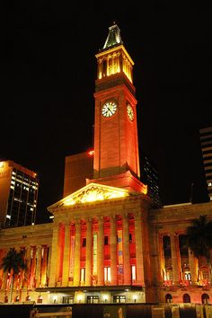 #travel Brisbane City Hall, Queensland, Australia
