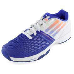 ADIDAS Women's CC Adizero Tempaia III Tennis Shoes White and Light Flash Purple - Tennis Express