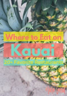 If you're wondering where to eat on Kauai, this is your list! I've rounded up 20 of my favorite Kauai restaurants. Kauai Vacation, Honeymoon Vacations, Hawaii Honeymoon, Hawaii Travel, Italy Vacation, Vacation Destinations, Vacation Trips, Vacation Ideas, Usa Travel Guide