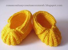 Zapatitos tejidos para bebe paso a paso ~ cositasconmesh