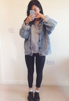 oversized denim jacket - tap image                                                                                                                                                      Más