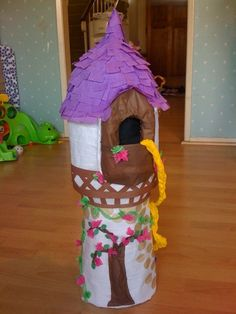 Rapunzel Tangled Tower w/ Pull Strings for by PinataMama on Etsy