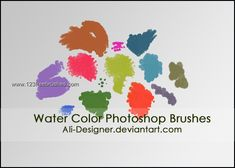 Water Color - Download  Photoshop brush http://www.123freebrushes.com/water-color/ , Published in #GrungeSplatter. More Free Grunge & Splatter Brushes, http://www.123freebrushes.com/free-brushes/grunge-splatter/ | #123freebrushes
