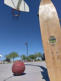longboard and hoops