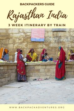 A backpackers guide to Rajasthan with a suggested itinerary of 3 weeks visiting highlights such as Bikaner, Jaisalmer, Jodhpur, Udaipur, Pushkar & Jaipur.