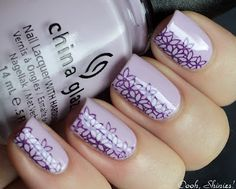 China Glaze Sweet Hook with Color Club Wild At Heart and Konad plate m51.
