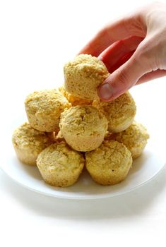 Everything you love about cornbread and muffins, just in bite-sized form! These Mini Gluten-Free Cornbread Muffin Bites are vegan, allergy-free. Gluten Free Cornbread, Cornbread Muffins, Gluten Free Muffins, Corn Muffins, Mini Muffins, Vegan Gluten Free Brownies, Vegan Brownie, Gluten Free Recipes For Breakfast, Gluten Free Breakfasts