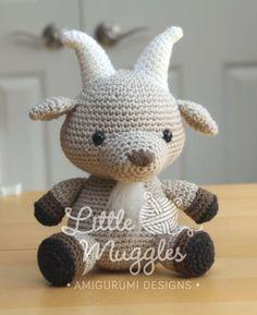 (4) Name: 'Crocheting : Amigurumi Pattern - Gordy the Goat