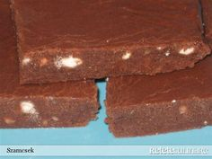 Baton de cacao No Cook Desserts, Brownie Bar, Cacao, Fudge, Brownies, Recipies, Cooking, Food, Cake Brownies