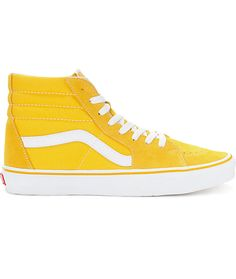 4e0bcc722c03c5 Vans Sk8-Hi Spectra Yellow   White Skate Shoes