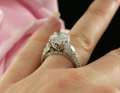 9mm Forever Brilliant Moissanite Engagement Ring in 14K White Gold, Pear Shape Moissanites ( rose gold, yellow gold and platinum available) by KaratJewelryGroup on Etsy