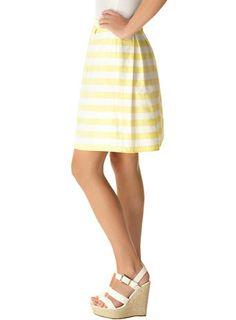 Yellow and white stripe skirt