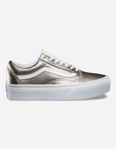 0fea6cf542 VANS Old Skool Platform Womens Shoes - GOLD - 302934621
