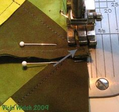 Sewing perfect points in patchwork