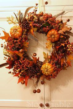 StoneGable Fall Wreath Tutorial