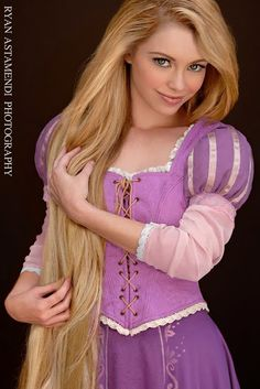 Real life Rapunzel - For a second there i thought this was a painting of the cartoon! weird