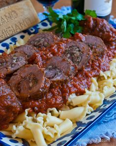 Grandma Gennaco's Beef Braciole - a 100-year-old family recipe and a must-try!