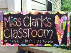 Custom Classroom Sign