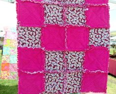 Hello Kitty Baby Rag Quilt with other soft and comfy fabric. $59.00, via Etsy.