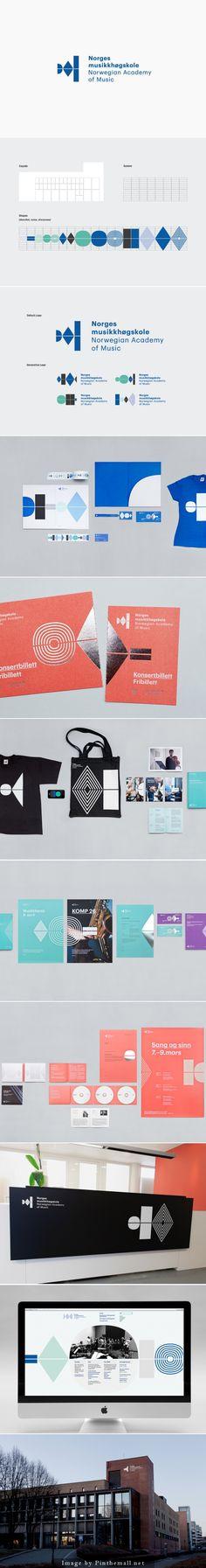 identity design, graphic, stationary, logo Norwegian Academy of Music _  Neue