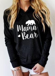 Mama Bear   Lightweight Hoodie