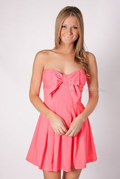 wrapped up cocktail dress - coral