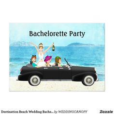 Destination Beach Wedding Bachelorette Party
