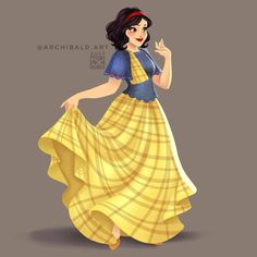 Snow White in Baro't Saya (Traditional Filipino Attire) by archibald.art