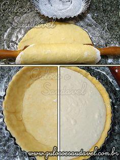 Modo de Preparo do Quiche de Ricota e Gorgonzola no Liquidificador