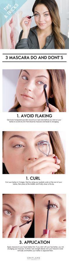 3 Mascara do's and don'ts! #oriflame #mascara #tips