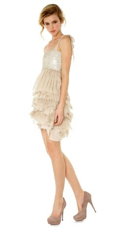 alice + olivia, marianna embellished bustier dress