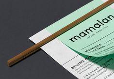 Mamalan Brand Identity and Packaging by Midday - Grits & Grids® Menu Design, Branding Design, Print Design, Street Food London, Chinese Menu, Food Typography, Water Chestnut, Restaurant Branding, Design Agency